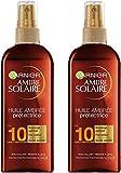 Garnier Ambre Solaire - Huile Ambrée Protectrice - FPS 10 - 150 ml - Lot de 2