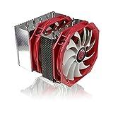 RAIJINTEK Tisis - Zwei-Turm CPU Kühler mit 2x 140mm Lüfter (nur 1x PWM Lüfter) - Hochwertig Prozessor Kühler zum Overclocking Gaming CPU