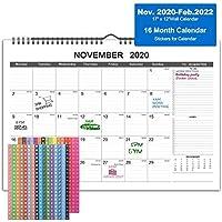 Zhiroad 2021 16 Months Desk Calendar with Julian Date