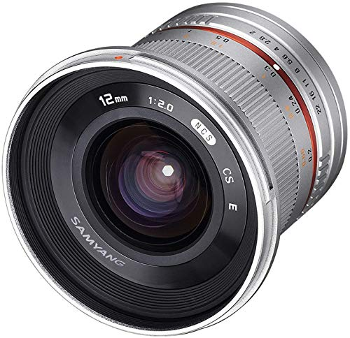Samyang CSC-Mirrorless - Objetivo fotográfico (12 mm, F2.0 NCS, CS), Plateado