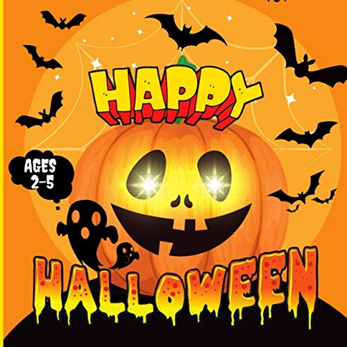Happy Halloween: I Spy Book and Fun Activity Guessing Game For Kids Ages 2-5 (English Edition)