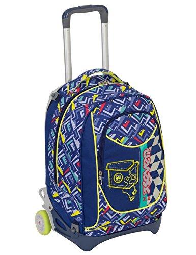 Seven Trolley New Jack - WIDGET - Blu - SGANCIABILE e Lavabile - Scuola e Viaggio