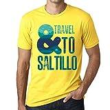 Photo de Homme T Shirt Graphique Imprimé Vintage Tee and Travel to Saltillo Jaune