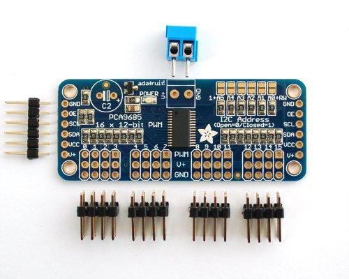 Adafruit 16-Servo Controllerkarte / Schnittstellenkarte mit PWM für Arduino