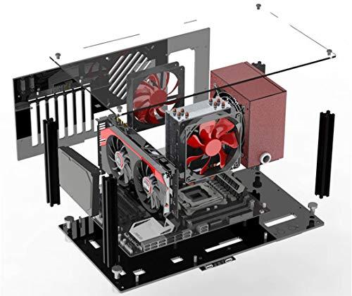 【BWH】PCオープンフレーム 透明 モッドベーススタンド PCケース DIY ケースブラケット ATX (タイプⅡ)