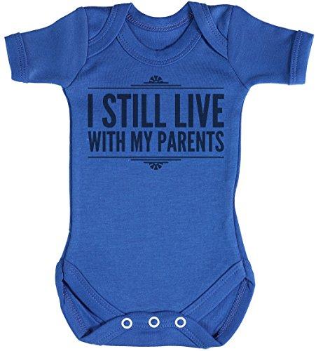 Baby Buddha I Still Live with My Parents Body bébé - Gilet bébé - Naissance Bleu