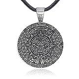 Namaste Jewelers Maya - Collar con Colgante de Calendario Maya (Peltre)