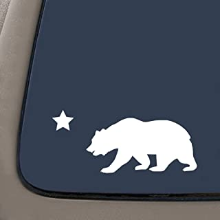 NI126 California Republic Cali State Cali Bear Vinyl Decal Sticker | 6