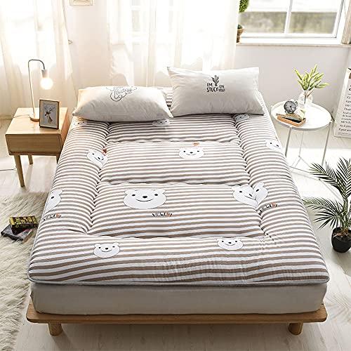 Japansk golvmadrass, andningsbar futonmadrass, enkel dubbel hopfällbar upprullbar madrass, tatami-matta sovbädd för golv Bäddsoffa för barn Vuxna sömnsal,C,150x200cm(59 * 79inch)