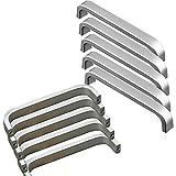 20x Qrity Tiradores de las puertas del armario de la cocina armario ropero tire del cajón, Aluminio, con tornillos (96MM)
