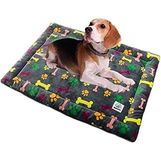 Allisandro Dog Bed Large 80x60cm Cat Mat Washable Crate Mattress Soft Non Slip Pet Fleece Cushion Pad Multi-colored Mat 13