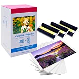 MarkField Papier photo Selphy KP-108IN 3115B001(AA) Color Ink Paper Set Compatible avec Imprimante Canon Selphy CP Series CP1300 CP1200 CP1000, Papier photo 108 feuilles (A6, 100 x 148 mm)