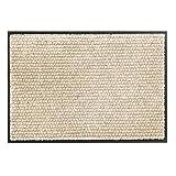Schöner Wohnen Kollektion Miami - Felpudo resistente a la suciedad (50 x 70 cm), diseño de lunares, color beige