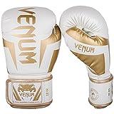 Venum Elite Boxing Gloves - White/Gold - 16oz