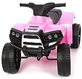 Mediawave Store - Quad Mini 6V Elettrico LT891 per Bambini luci LED 4Ah velocità Max 4 km/h, Mini Quad a 4 Ruote, Veicolo Elettrico (Rosa)