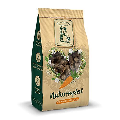 Mühldorfer NaturHupferl Karotte, 1 kg, naturgesunde Leckerli für Pferde, getreidefrei, ohne Melasse und Zusatzstoffe, zucker- und stärkereduziert