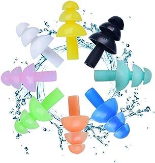 Tappi per le orecchie morbidi in silicone per la protezione dell'udito 5 paia di tappi per le orecchie riutilizzabili, imp...