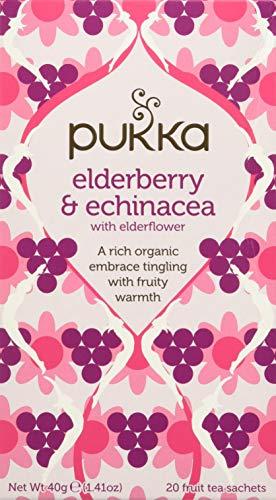 Pukka Tè Elderberry Echinacea, 20 Filtri, 40g