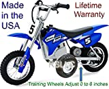RSLLC Adjustable Motorcycle Training Wheels for Razor MX350, MX400, MX350 Dirt Rocket, MX400 Dirt Rocket, MX 350 and MX 400 - Bike NOT Included