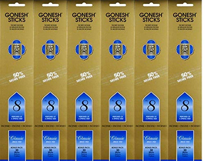 マットレス後ろに化学Gonesh #8 Bonus Pack 30 sticks ガーネッシュ#8 ボーナスパック30本入 6個組 180本