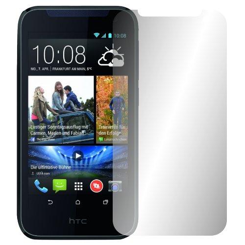 Slabo 2 x Bildschirmschutzfolie HTC Desire 310 Bildschirmschutz Schutzfolie Folie Crystal Clear unsichtbar Made IN Germany