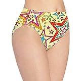 XCNGG Bragas Ropa Interior de Mujer 3D Print Soft Women's Underwear, Color Stars Fashion Flirty Lady'S Panties Briefs Medium