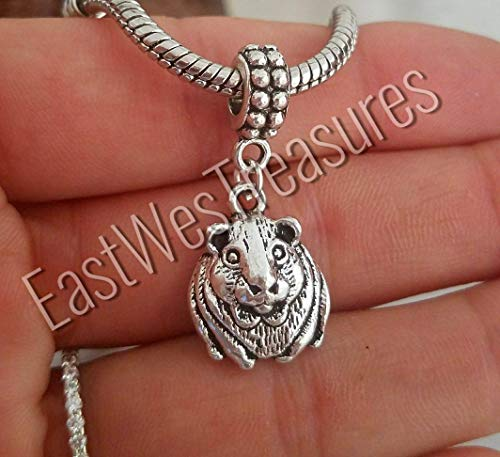 Guinea Pig Hamster Charm Bracelet and Necklace - Jewelry Gift - All ages