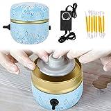 TOPQSC Mini Macchina per ceramiche, 2000 Giri/min Mud Fingertip Drawing Machine Pottery Giradischi Elettrico per Ceramica Strumento per Argilla Fai-da-Te Vassoio Adulti Bambini Ceramica Arte