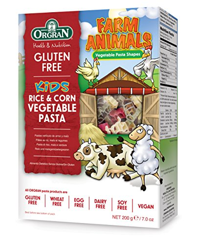 Orgran Gluten Free Rice & Corn Farm Animals Vegetable Pasta 7 oz box