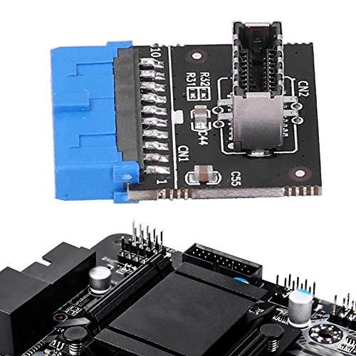 KUIDAMOS USB 3.0 de 20 Pines a Type-E, Fuerte compatibilidad USB 3.0 a Type-E Professional para Placa Base
