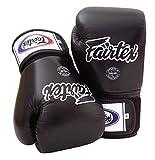 Fairtex Muay Thai BGV1 - Guantes de boxeo, color negro, talla 10, 12, 14 y 16 onzas
