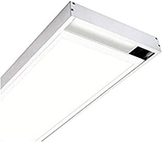 KIT Superficie Para Instalacion de Panel LED 120x30cm. Lacado Blanco. Para montaje panel 1195x295mm