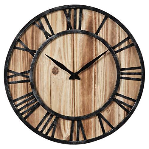 DXX Wanduhr Groß Lautlose Wanduhr 60CM Wanduhr Vintage XL Wanduhr Holz Für Küche Wohnzimme und Schlafzimmer