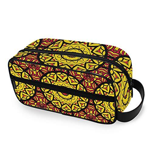 QMIN Trousse de Toilette Portable Motif Mandala Tribal Ethnique