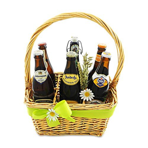 Sechser Bierkorb 'Weizen-Biere'