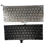 SUNMALL New A1278 Keyboard Replacement Without Backlight Backlit for MacBook Pro 13' US Layout MD313 MD314 MC374 MC375 MB466 MB467 MC700 MC724 MB990 MB991 MD101 MD102 Series 2009-2015 Years