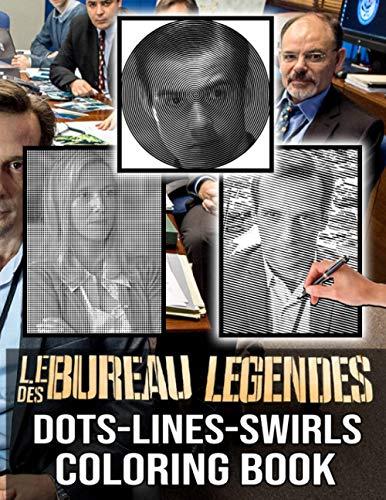 Le Bureau Des Legendes Dots Lines Swirls Coloring Book: Impressive Diagonal Line, Swirls Activity Books For Adults Le Bureau Des Legendes A Fun Gift