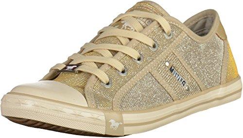 MUSTANG 1099-308 Damen Sneakers Champagner, EU 38