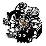 LIMN Record Wall Clock Gamepad Game Controller Reloj de Pared Videojuego Disco de Vinilo Playstation Máquina recreativa Reloj Colgante Decoración de la habitación Regalos para niños