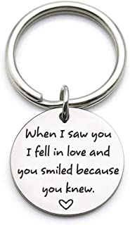 XGAKWD Romantic Valentine's Day Anniversary Keychain Gift, When I Saw You I Fell in Love, Wedding Gifts