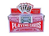 Playwrite Playing Cards 300-002 Pack of 12 Playing Cards. Display stand containing 12