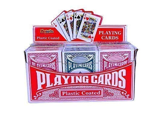 Playwrite Playing Cards 300-002 Pack of 12 Playing Cards. Display stand...