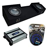 Compatible with 1999-2006 Chevy Silverado Extended Cab Truck Harmony Bundle R124 Dual 12' Sub Box & HA-A400.1
