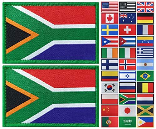 JBCD 2 Stück Südafrika-Flagge Patch Südafrikanische Flaggen Patch Pride Flag Patch für Kleidung Hut Patch Team Military Patch
