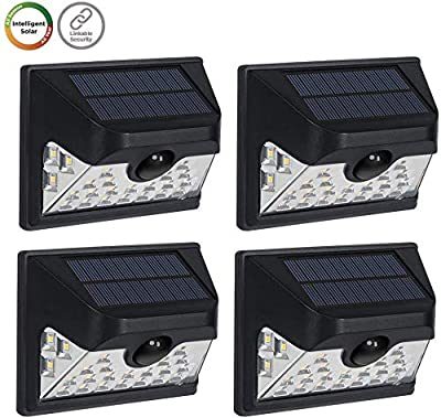 Westinghouse Wireless Linkable Intelligent Solar Motion Sensor Lights Outdoor, 120° Wider Angle Illumination 26 LEDs 600 Lumens Security Wall Lights for Yard Fence Patio Driveway Garage Porch