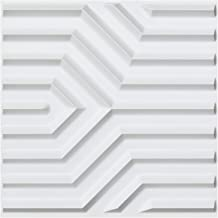 Art3d PVC 3D Wall Panels Geometric Mate Pattern Pack of 12 Tiles Cover 32 SqFt, Size 19.7