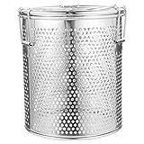 YARNOW 1 Pack 12Cm Hoch Edelstahl-Solekorb Nützlicher Gewürzkugel-Gewürzfilter (Silber)