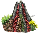 Nobby Aqua Ornaments 'VULKAN' mit Pflanzen 14 x 13 x 12,5 cm