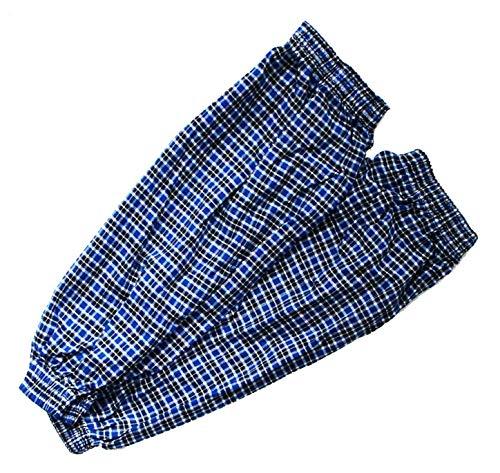 HAND ® SPL09 Lot de 2 paires de protège-bras en pur coton à carreaux Unisexe