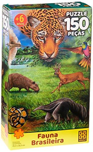 Grow - Fauna Brasileira Quebra-Cabeças 150 Peças, 6+ Anos, Multicor, (Grow 3568)